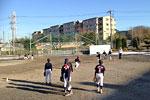 荏田南小学校での練習風景